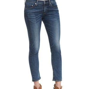 Rag & Bone Revolve Capri Dark Wash Skinny Jeans 27